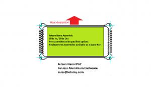 Jetson Nano IP67 Fanless Aluminium Case